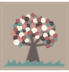 tree with buttons treetop vector image vector image