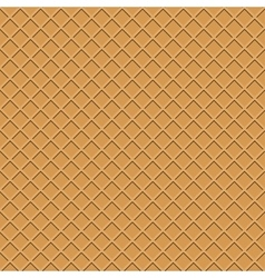 Waffle seamless background vector image