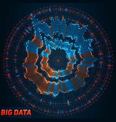 big data circular visualization futuristic vector image vector image