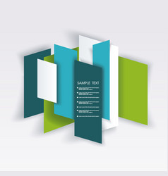 Bright panel banners template for business design vector