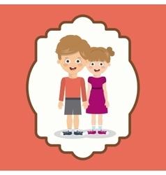 pair of children design vector image