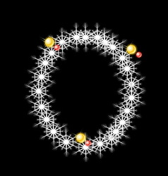 Abstract star O alphabet character vector image