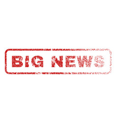 big news rubber stamp vector image