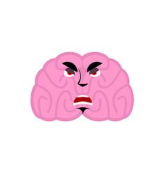brain angry emotion human brains emoji evil vector image