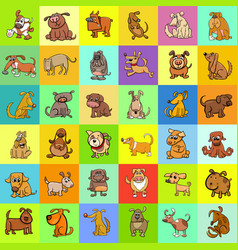 cartoon dogs pattern design vector image