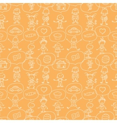 Children thinking seamless pattern background vector image vector image