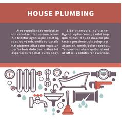 house plumbing information board vector image vector image