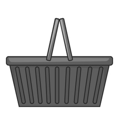Shopping basket icon gray monochrome style vector image