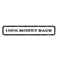 100 percent money back watermark stamp vector image