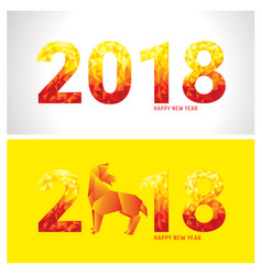 2018 new year banners vector