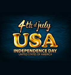 4 july usa independence day gold balloon golden vector image