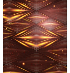 Abstract hexagon pattern Brown and golden shiny vector image