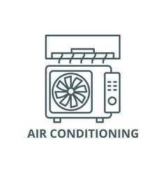 air conditioning line icon air vector image