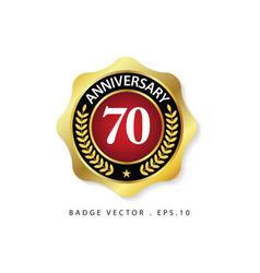 Anniversary 70 template design vector