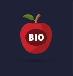 Apple bio icon vector