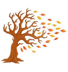 Autumn tree theme image 1 vector