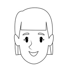 avatar girl woman profile female image vector image