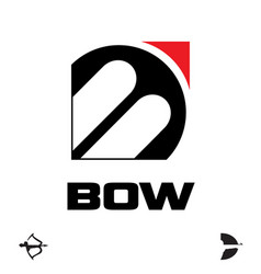 B letter based symbol bow and archery concept vector