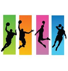 Basketballer silhouettes vector