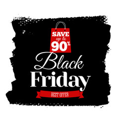 black friday sale banner insignia or logotype of vector image