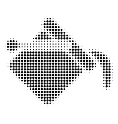 black pixel paint bucket icon vector image