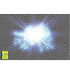 blue abstract energy shock explosion special vector image