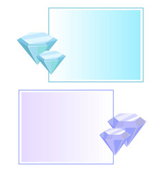 blue purple crystals and gemstones minerals vector image