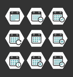 calendar icons with event progress and vector image