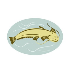 catfish jumping vector image