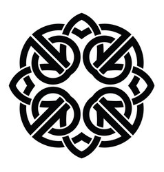 Celtic knot abstract decorative ornament vector