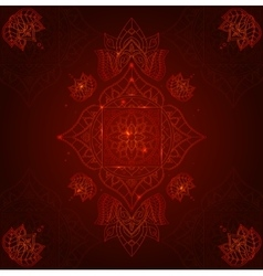 Chakra Muladhara on a Dark Red Background vector image