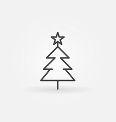 christmas tree concept icon in thin line vector image