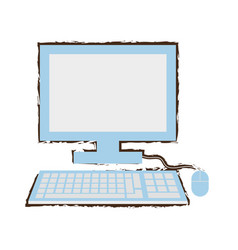 Computer school learn sketch vector