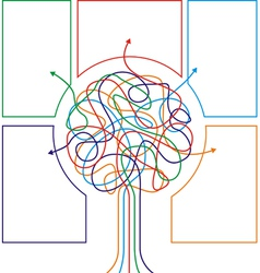Concept of colorful tree with arrows vector image