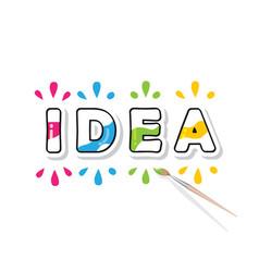 creative idea consept colorful cartoon letters vector image