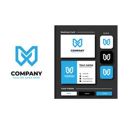 creative professional trendy initial m logo vector image