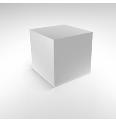 Cube with reflections and shadows vector image