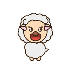 Cute sheep toy kawaii image vector