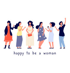 different body types women vector image
