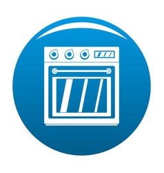 Electric oven icon blue vector
