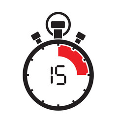 fifth teen minute stop watch countdown vector image