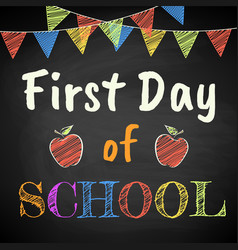 First day school vector