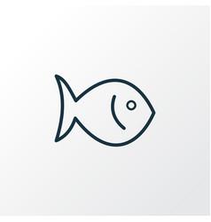 fish icon line symbol premium quality isolated vector image