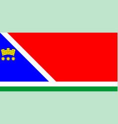 Flag blagoveshchensk in amur oblast russian vector