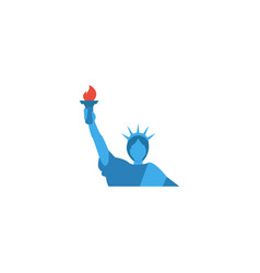 flat icon liberty statue element vector image