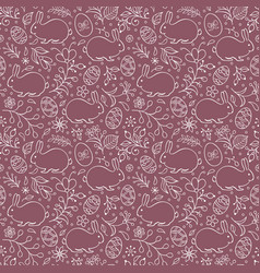 Floral easter pattern vector