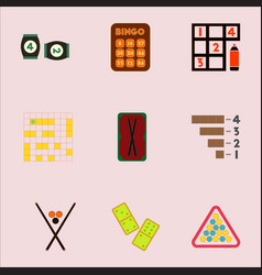 Games icons set table collection vector