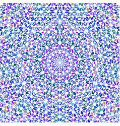 Geometrical dynamic colorful flower mosaic vector