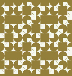 graphic simple ornamental tile repeated pattern vector image