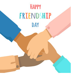 Happy friendship day flat concept vector